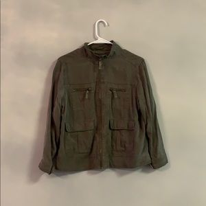 Mission supply and Co Large green zipup jacket